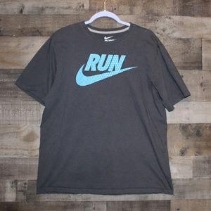 Men's Nike Run Tee Gray